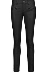 Belstaff Amelie Coated Cotton Blend Skinny Pants Black