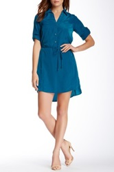 Zoa Two Pocket Shirt Dress Blue