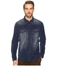 Joe's Jeans The Ralston Corduroy Woven Shirt Indigo Men's Long Sleeve Button Up Blue