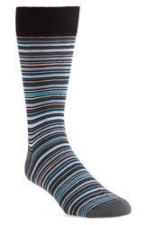 Lorenzo Uomo Men's Thin Multi Stripe Socks