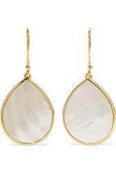 Ippolita Polished Rock Candy 18 Karat Gold Mother Of Pearl Earrings