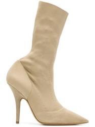 Yeezy Knit Ankle Boots Nude And Neutrals