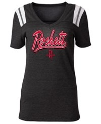 5Th And Ocean Houston Rockets Shoulder Stripes T Shirt Black