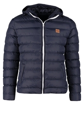 Urban Classics Basic Bubble Winter Jacket Navy White Navy Blue
