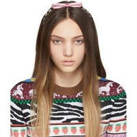 Miu Miu Pink Bow Crystal Headband