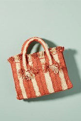 Anthropologie George Striped Small Tote Bag Pink