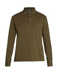 Polo Ralph Lauren Long Sleeved Cotton Pique Shirt Khaki