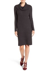 Halogenr Women's Halogen Cowl Neck Sweater Dress Heather Charcoal