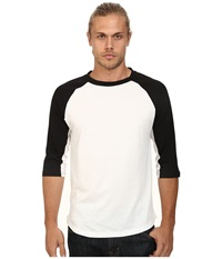 Alternative Apparel Cotton Modal Baseball Tee Black Men's Long Sleeve Pullover