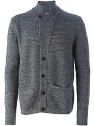 Wooyoungmi Chunky Knit Buttoned Cardigan Grey