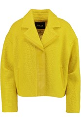 Raoul Leather Trimmed Wool Blend Boucl And Eacute Jacket Yellow