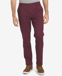 Izod Men's Saltwater Washed Straight Fit Stretch Chino Pants Fig