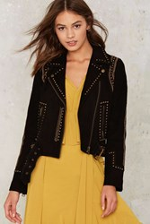 Nasty Gal Collection Business As Usual Suede Jacket Black