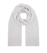 William Sharp Embellished Scarf Grey