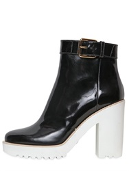 Hogan 100Mm Patent Leather Ankle Boots