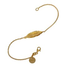 Azendi Gold Vermeil Feather Bracelet