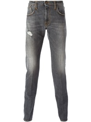 People People 'Dali' Distressed Slim Jeans Grey