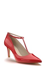 Shoes Of Prey Women's T Strap Pump Red Patent