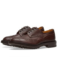 Tricker's Commando Sole Ilkley Derby Brogue Burgundy