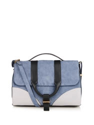 Jason Wu Hanne Colour Block Suede Shoulder Bag