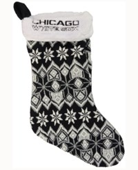 Forever Collectibles Chicago White Sox Ugly Sweater Knit Team Stocking Black