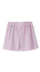 Sleepy Jones Victor Thin Multistripe Boxers White Red Navy