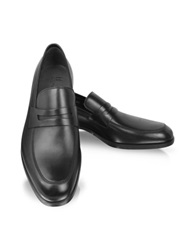 Moreschi Brunei Black Leather Loafer
