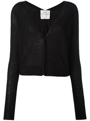 Forte Forte Deep V Neck Cardigan Black