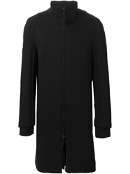 Individual Sentiments Zipped High Neck Coat Black