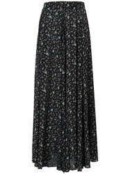 Zadig And Voltaire Floral Maxi Skirt Black