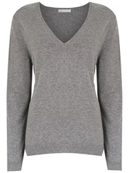 Spacenk Nk V Neck Knitted Sweater Grey