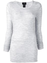 Lost And Found Ria Dunn Fine Knit Jumper Grey