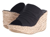 Blowfish Drapey Black Rancher Canvas Women's Wedge Shoes