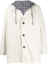 Martine Rose Hooded Single Breasted Coat 60
