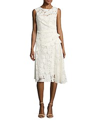 Oscar De La Renta Sleeveless Peplum Dress White