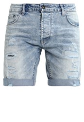 Solid Joy Denim Shorts Light Blue Denim