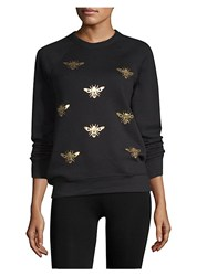 Ultracor Bee Print Sweatshirt Nero Gold