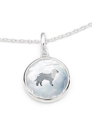 Ippolita Ippolitini Onyx Mother Of Pearl Clear Quartz And Sterling Silver Triplet Lab Dog Charm Pendant