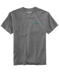 Lrg Men's Line Tree Logo T Shirt Charcoal Heather
