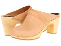 Swedish Hasbeens Slip In Nature Women's Clog Shoes Neutral