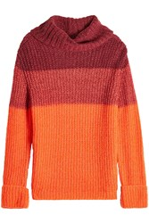 Lala Berlin Turtleneck Pullover With Mohair And Wool Multicolored