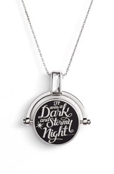 Alex And Ani X Disney 'A Wrinkle In Time' Dark Stormy Night Spinner Expandable Necklace Silver