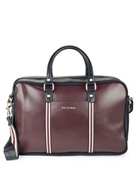 Ben Sherman Iconic Faux Leather Brief Case Blue