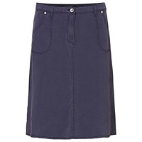 Betty Barclay A Line Linen Blend Skirt Navy Blue