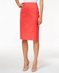 Charter Club Pencil Skirt Only At Macy's Crushed Coral