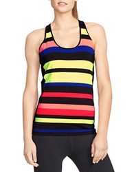Lauren Ralph Lauren Striped Racerback Tank Black Multi
