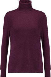 Magaschoni Ribbed Cashmere Turtleneck Sweater Purple