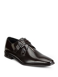 Versace Slip On Leather Dress Shoes Dark Brown