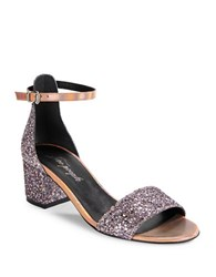 Free People Marigold Open Toe Glitter Sandals Pink
