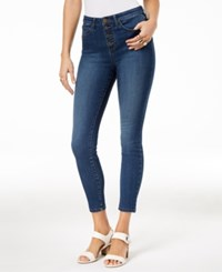 Maison Jules Button Fly Skinny Jeans Created For Macy's Cyan Tears